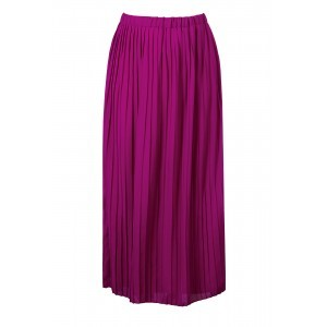 Georgette Pleat Maxi Skirt - pattern: plain; length: ankle length; fit: loose/voluminous; waist: high rise; predominant colour: hot pink; occasions: casual, creative work; style: maxi skirt; fibres: polyester/polyamide - 100%; hip detail: subtle/flattering hip detail; waist detail: feature waist detail; pattern type: fabric; texture group: other - light to midweight; season: s/s 2016; wardrobe: highlight