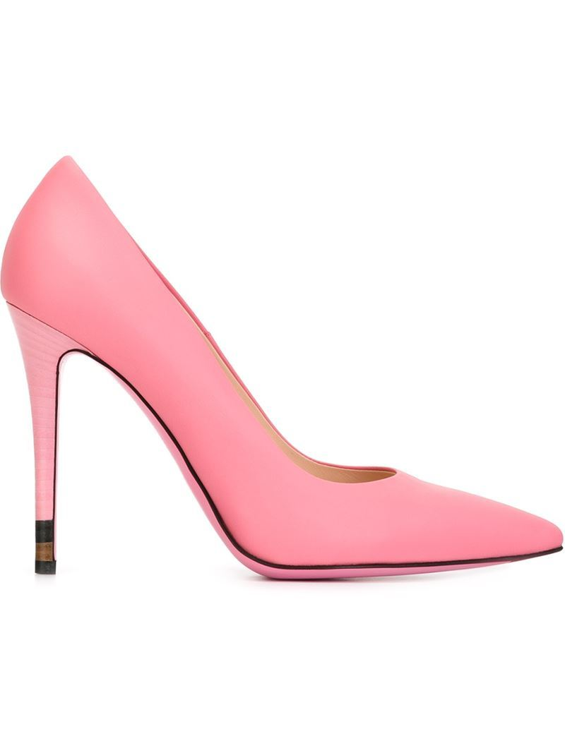 'anne' Pumps, Women's, Size: 37.5, Pink/Purple - predominant colour: pink; occasions: evening, occasion, creative work; material: leather; heel: stiletto; toe: pointed toe; style: courts; finish: plain; pattern: plain; heel height: very high; season: s/s 2016; wardrobe: highlight