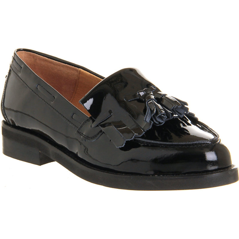 Extravaganza Leather Loafers, Women's, Eur 39 / 6 Uk Women, Black Patent Leather - predominant colour: black; occasions: casual, creative work; material: leather; heel height: flat; embellishment: tassels; toe: round toe; style: loafers; finish: patent; pattern: plain; season: s/s 2016; wardrobe: basic