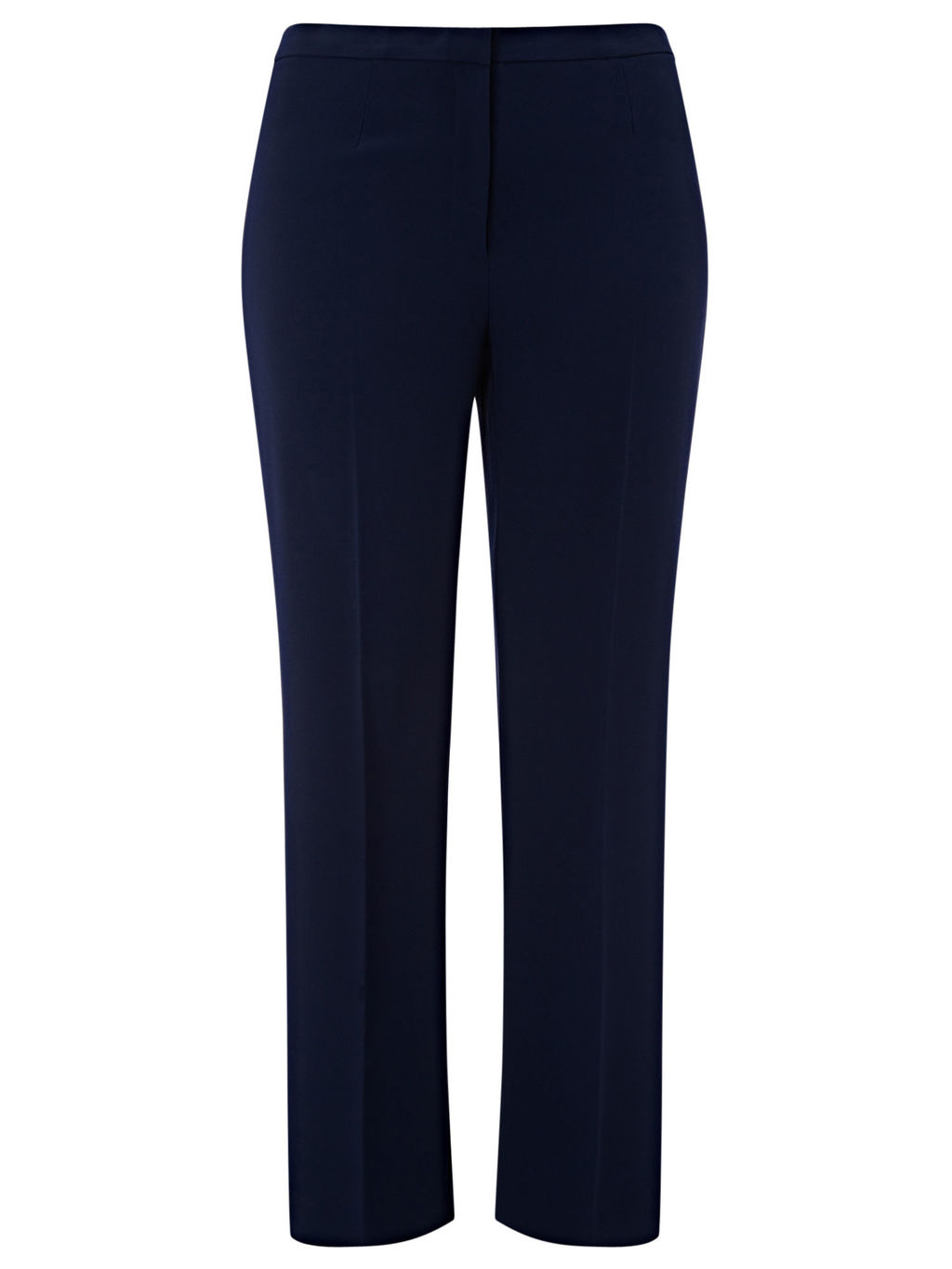 Navy Standard Leg Trouser - length: standard; pattern: plain; waist: mid/regular rise; predominant colour: navy; occasions: work, creative work; fibres: polyester/polyamide - 100%; fit: straight leg; pattern type: fabric; texture group: woven light midweight; style: standard; season: s/s 2016; wardrobe: basic
