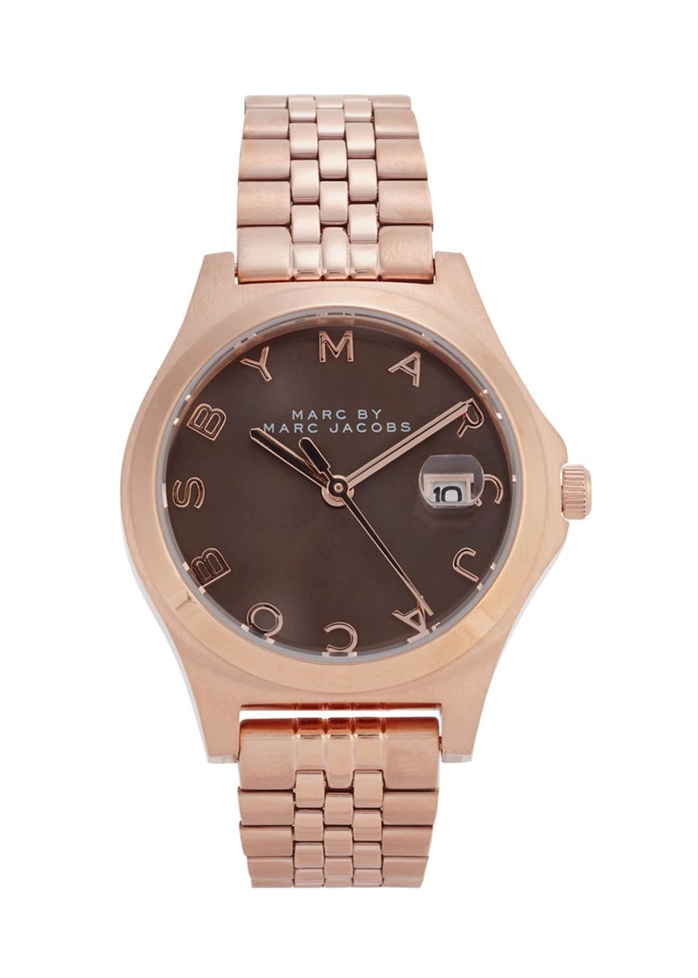 The Slim Rose Gold Tone Watch - predominant colour: gold; occasions: casual, creative work; style: boyfriend; size: large/oversized; material: chain/metal; finish: metallic; pattern: plain; embellishment: chain/metal; season: s/s 2016