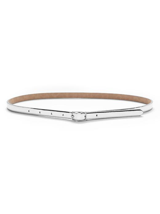 Centerbar Mirror Belt Silver - predominant colour: silver; occasions: casual, creative work; type of pattern: standard; style: classic; size: skinny; worn on: waist; material: leather; pattern: plain; finish: metallic; season: s/s 2016