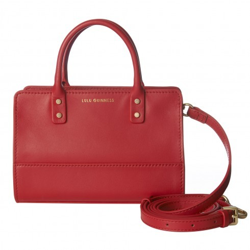 Red Smooth Leather Mini Daphne - predominant colour: burgundy; occasions: casual, creative work; type of pattern: standard; style: tote; length: handle; size: standard; material: leather; pattern: plain; finish: plain; season: s/s 2016; wardrobe: highlight
