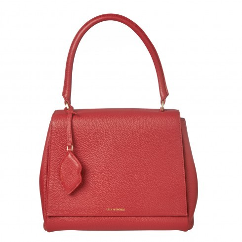 Red Grainy Leather Large Rita - predominant colour: true red; type of pattern: standard; style: tote; length: handle; size: standard; material: leather; pattern: plain; finish: plain; occasions: creative work; season: s/s 2016; wardrobe: highlight