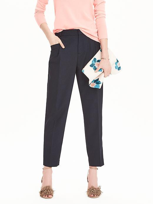 Straight Soft Pant Blue Combo - length: standard; pattern: plain; waist: high rise; predominant colour: navy; occasions: work; fibres: polyester/polyamide - stretch; fit: straight leg; pattern type: fabric; texture group: woven light midweight; style: standard; season: s/s 2016; wardrobe: basic