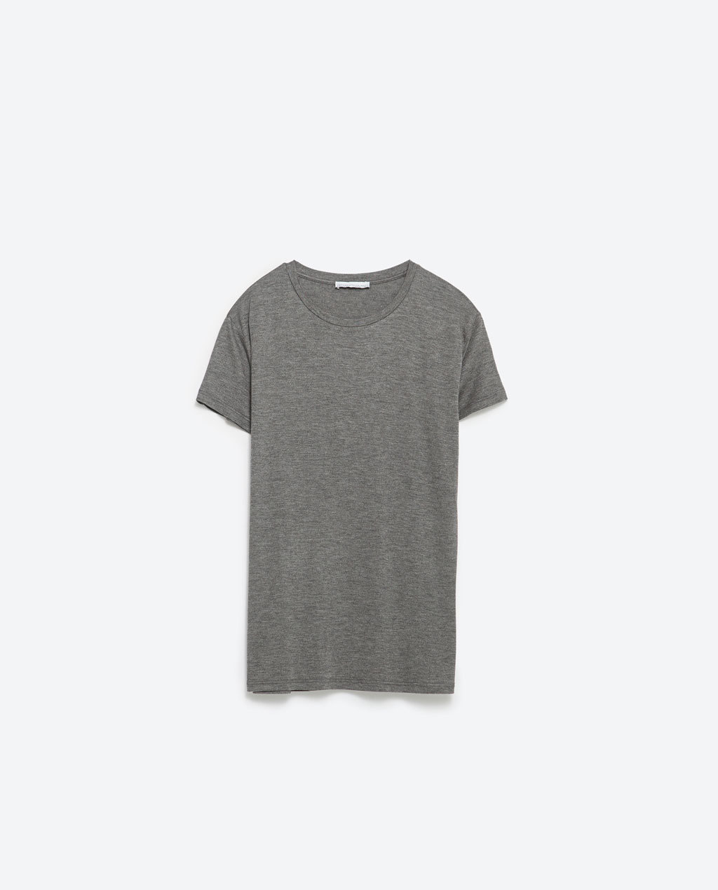 Basic T Shirt - neckline: round neck; pattern: plain; style: t-shirt; predominant colour: mid grey; occasions: casual; length: standard; fibres: viscose/rayon - stretch; fit: body skimming; sleeve length: short sleeve; sleeve style: standard; pattern type: fabric; texture group: jersey - stretchy/drapey; season: s/s 2016; wardrobe: basic