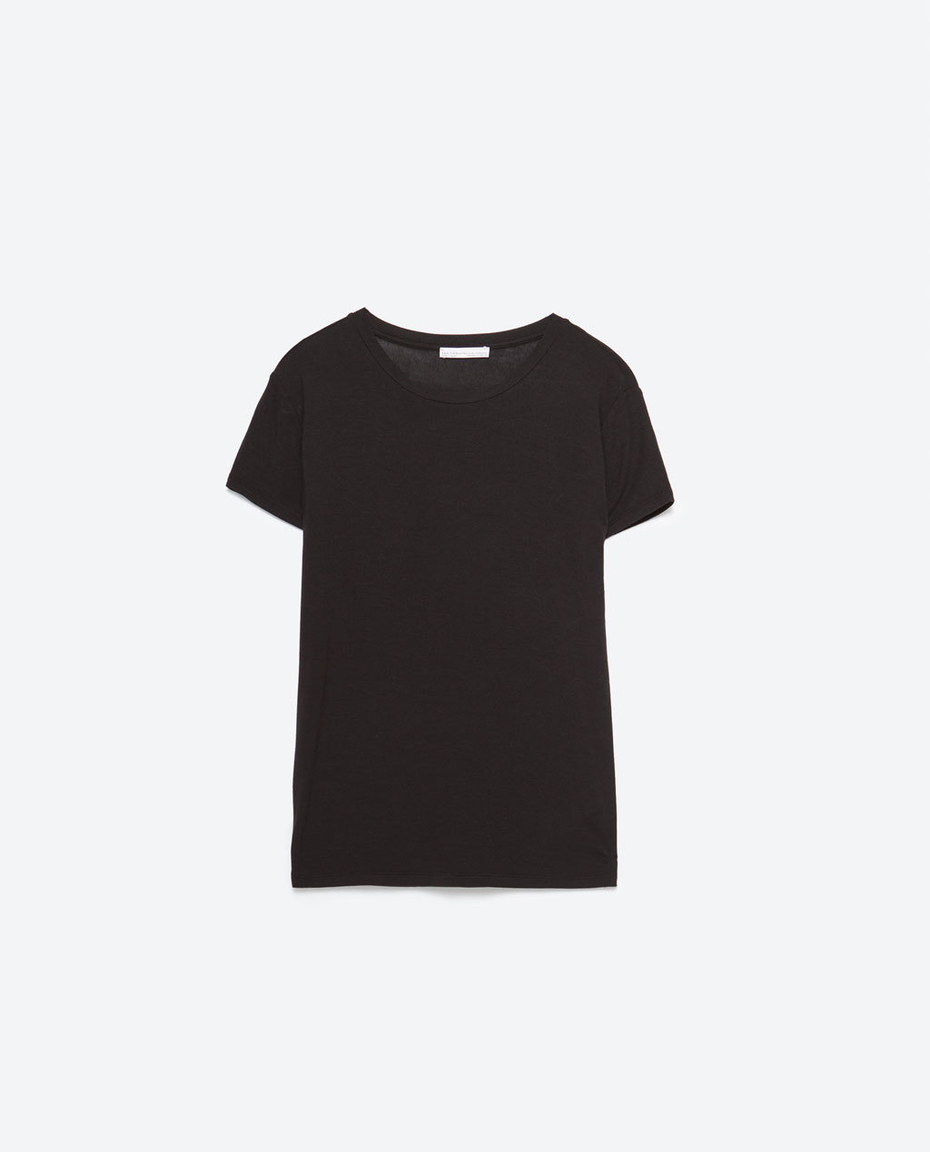 Basic T Shirt - neckline: round neck; pattern: plain; style: t-shirt; predominant colour: black; occasions: casual; length: standard; fibres: viscose/rayon - stretch; fit: body skimming; sleeve length: short sleeve; sleeve style: standard; pattern type: fabric; texture group: jersey - stretchy/drapey; season: s/s 2016