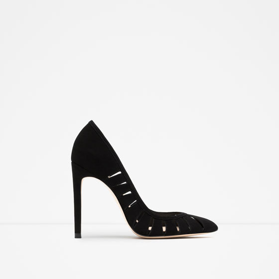 High Heel Leather Shoes - predominant colour: black; occasions: evening, occasion; material: suede; heel: stiletto; toe: pointed toe; style: courts; finish: plain; pattern: plain; heel height: very high; season: s/s 2016; wardrobe: event
