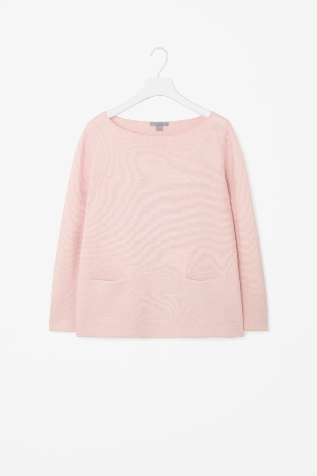 A Line Wool Jumper - neckline: round neck; pattern: plain; style: standard; predominant colour: blush; occasions: casual; length: standard; fibres: wool - 100%; fit: standard fit; sleeve length: long sleeve; sleeve style: standard; texture group: knits/crochet; pattern type: fabric; season: s/s 2016; wardrobe: basic