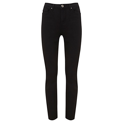 Asheville High Waist Jeans, Black - length: standard; pattern: plain; waist: high rise; style: slim leg; predominant colour: black; occasions: casual, creative work; fibres: cotton - stretch; texture group: denim; pattern type: fabric; season: s/s 2016; wardrobe: basic