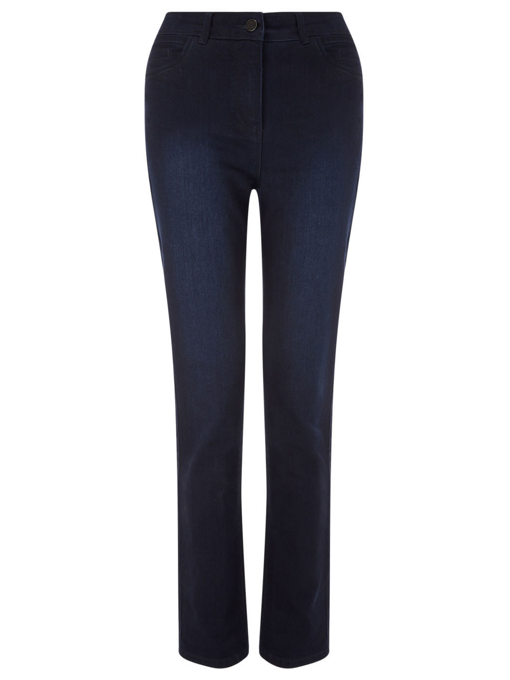 Dark Classic Jean Long - style: straight leg; length: standard; pattern: plain; waist: mid/regular rise; predominant colour: navy; occasions: casual, creative work; fibres: cotton - stretch; jeans detail: dark wash; texture group: denim; pattern type: fabric; season: s/s 2016; wardrobe: basic