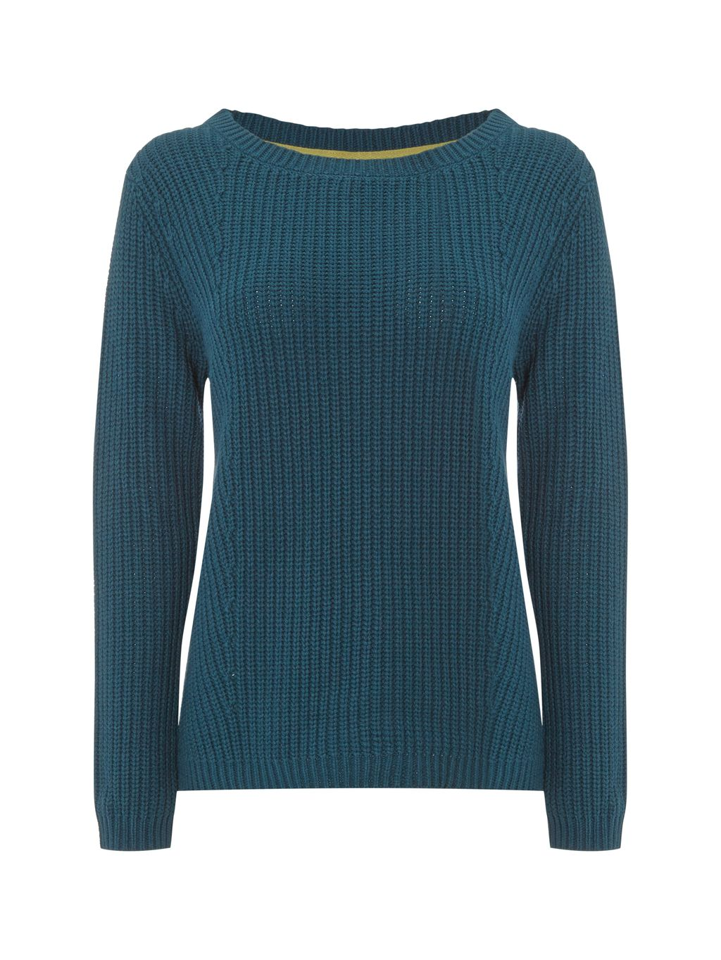 Fiori Jumper, Blue - neckline: slash/boat neckline; pattern: plain; style: standard; predominant colour: teal; occasions: casual, creative work; length: standard; fibres: cotton - 100%; fit: standard fit; sleeve length: long sleeve; sleeve style: standard; texture group: knits/crochet; pattern type: knitted - other; season: s/s 2016; wardrobe: highlight