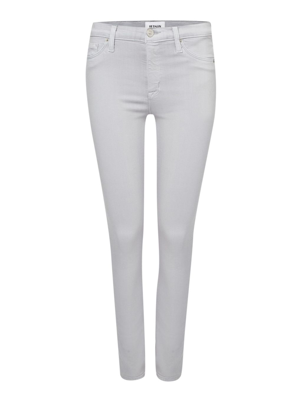 Nico Midrise Super Skinny Jean In Lunette, White - style: skinny leg; length: standard; pattern: plain; pocket detail: traditional 5 pocket; waist: mid/regular rise; predominant colour: white; occasions: casual; fibres: cotton - mix; texture group: denim; pattern type: fabric; season: s/s 2016; wardrobe: highlight