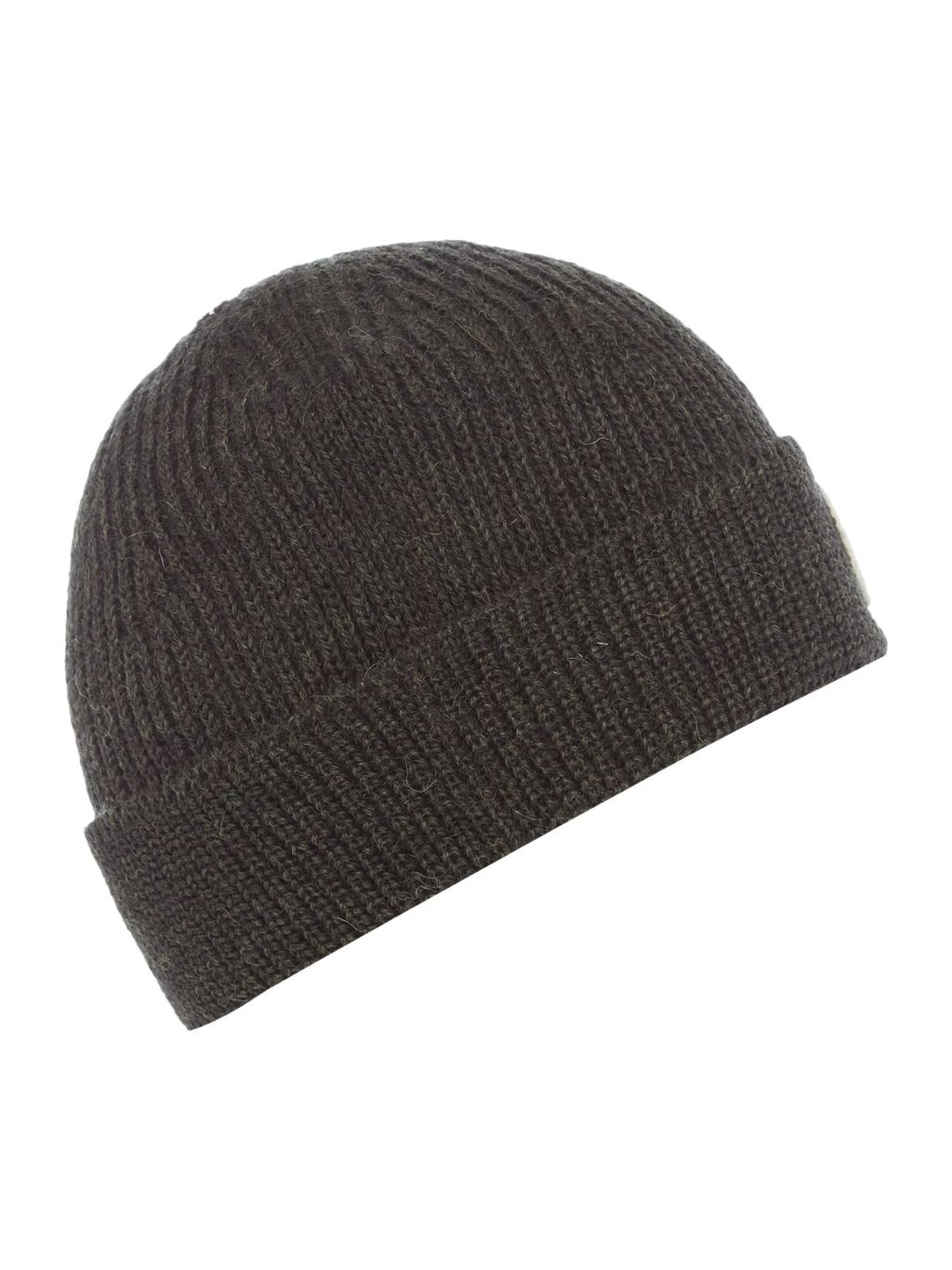 Knitted Beanie Hat, Green - predominant colour: dark green; occasions: casual; type of pattern: standard; style: beanie; size: standard; material: knits; pattern: plain; season: s/s 2016; wardrobe: highlight