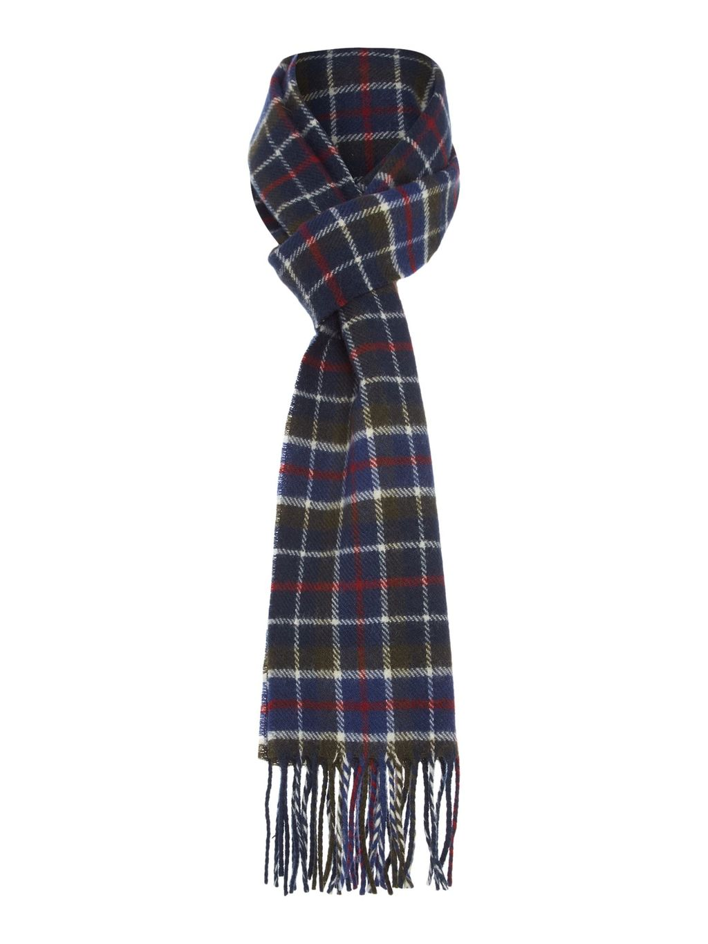 Racing Check Scarf, Multi Coloured - predominant colour: navy; occasions: casual, creative work; type of pattern: standard; style: regular; size: standard; material: fabric; pattern: checked/gingham; secondary colour: raspberry; season: s/s 2016; wardrobe: highlight