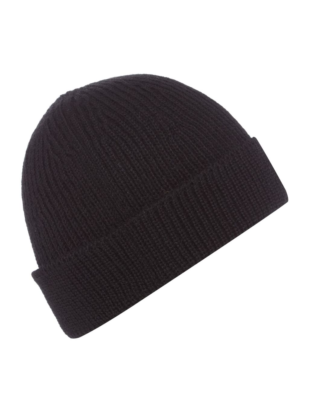 Knitted Beanie Hat, Black - predominant colour: black; occasions: casual; type of pattern: standard; style: beanie; size: standard; material: knits; pattern: plain; season: s/s 2016; wardrobe: basic