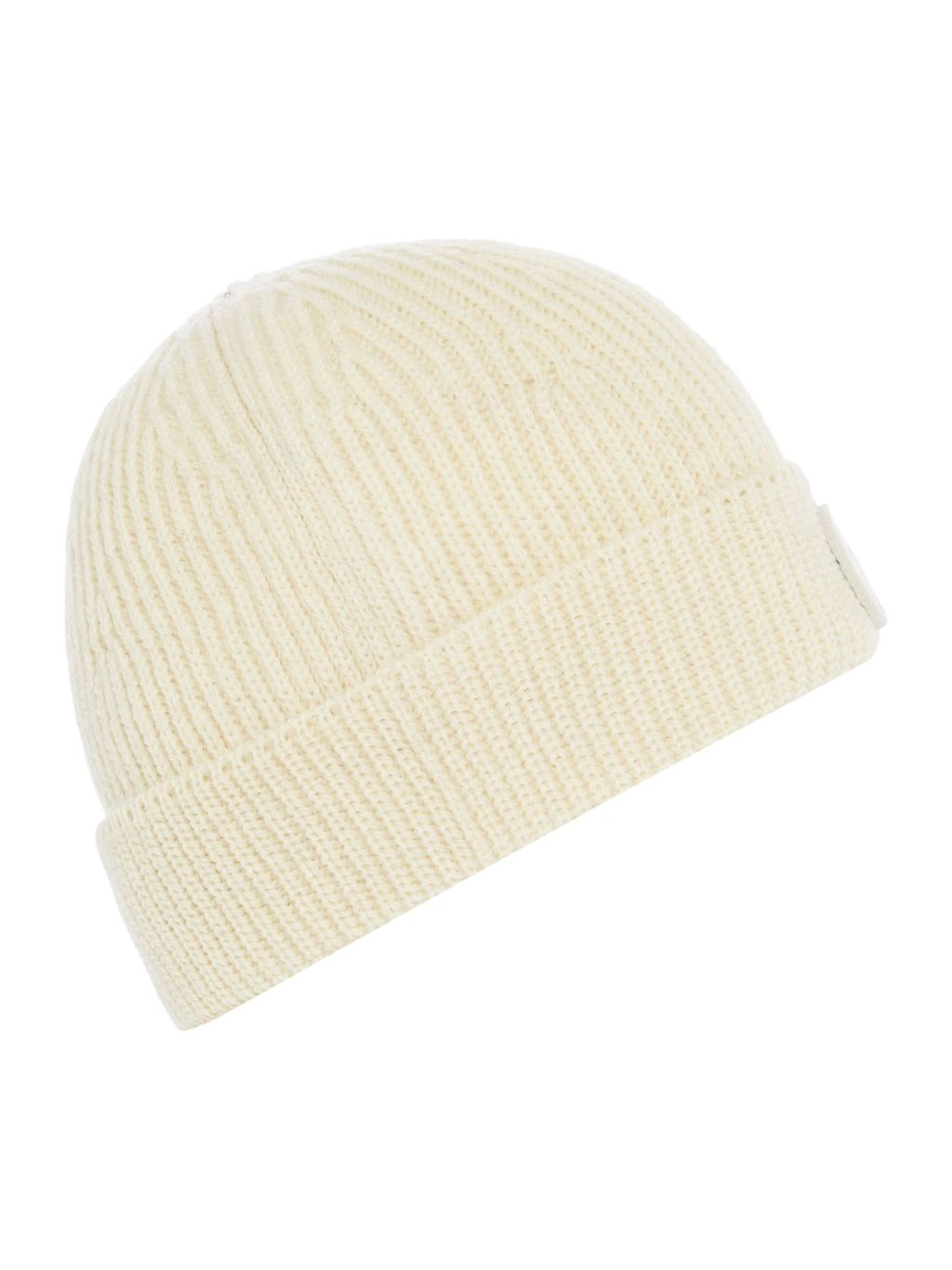 Knitted Beanie Hat, Beige - predominant colour: ivory/cream; occasions: casual; type of pattern: standard; style: beanie; size: standard; material: knits; pattern: plain; season: s/s 2016; wardrobe: basic