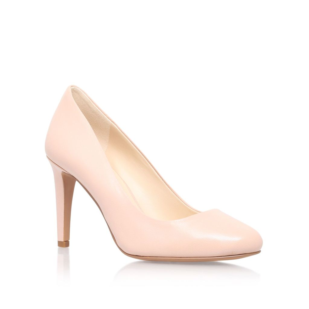 Handjive High Heel Court Shoes, Nude - predominant colour: nude; occasions: evening, work, occasion; material: leather; heel height: high; heel: stiletto; toe: round toe; style: courts; finish: plain; pattern: plain; season: s/s 2016; wardrobe: investment