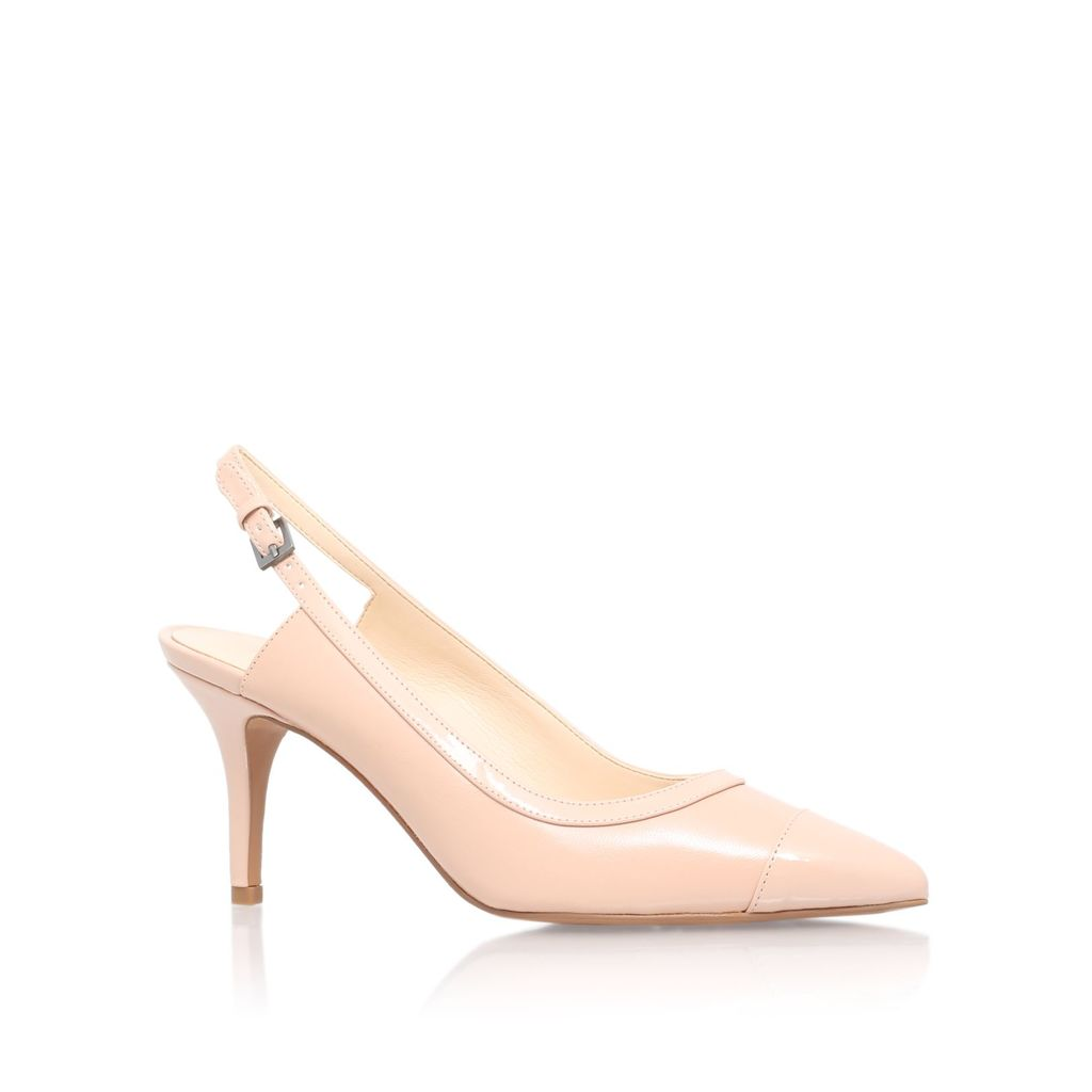 Kasai High Heel Slingback Shoes, Nude - predominant colour: nude; occasions: evening, work, occasion; material: faux leather; heel height: high; ankle detail: ankle strap; heel: stiletto; toe: pointed toe; style: slingbacks; finish: plain; pattern: plain; season: s/s 2016; wardrobe: investment
