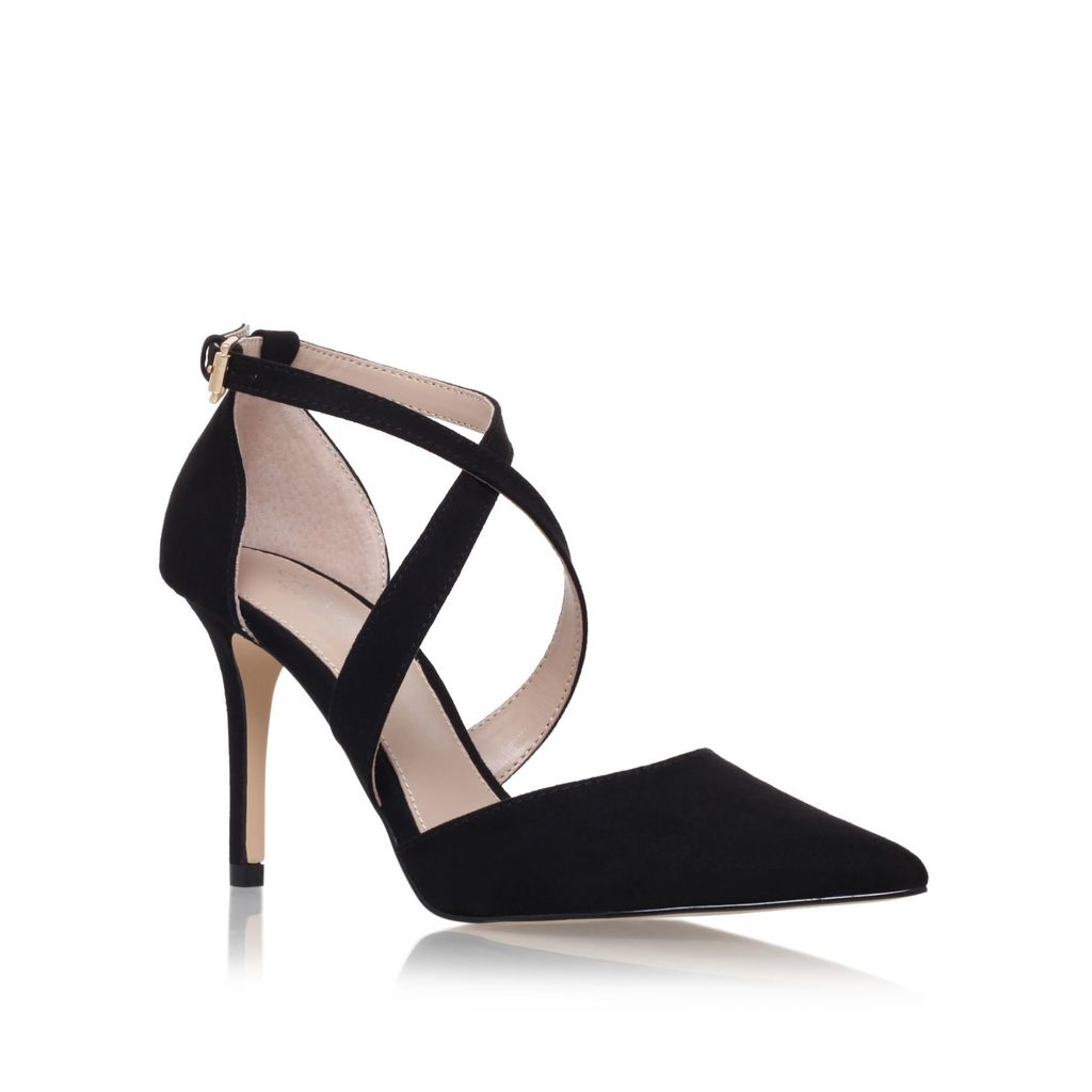 Kross High Heel Sandals, Black - predominant colour: black; occasions: work, creative work; material: suede; heel height: high; heel: stiletto; toe: pointed toe; style: courts; finish: plain; pattern: plain; season: s/s 2016