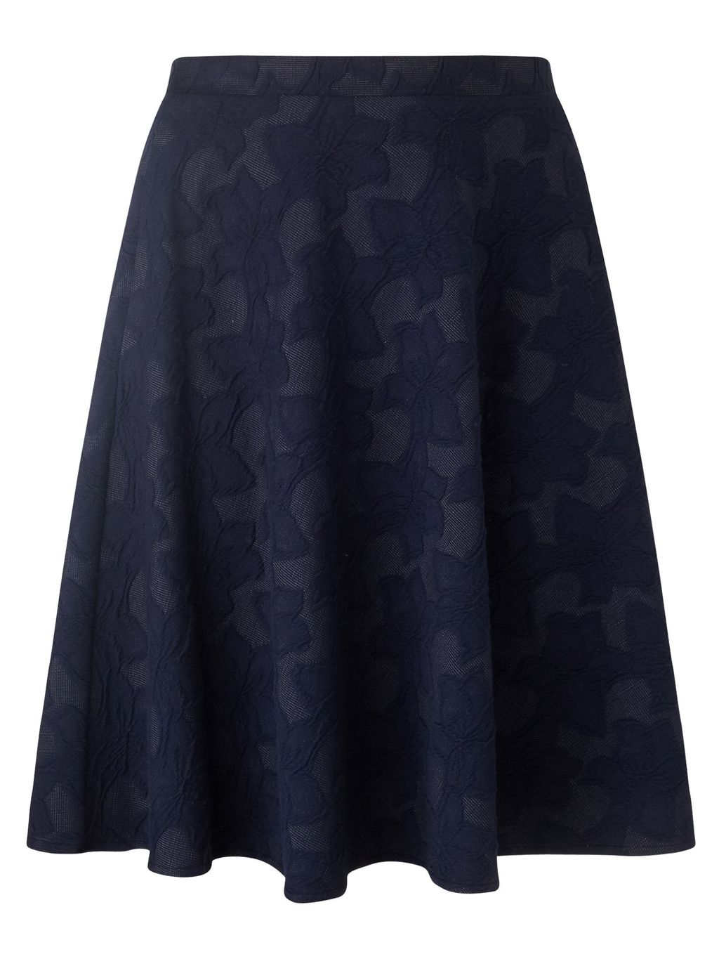 Alison Skirt, Navy - style: full/prom skirt; fit: loose/voluminous; waist: mid/regular rise; predominant colour: navy; length: just above the knee; fibres: cotton - mix; occasions: occasion, creative work; hip detail: subtle/flattering hip detail; waist detail: feature waist detail; pattern type: fabric; pattern: patterned/print; texture group: jersey - stretchy/drapey; pattern size: standard (bottom); season: s/s 2016; wardrobe: highlight