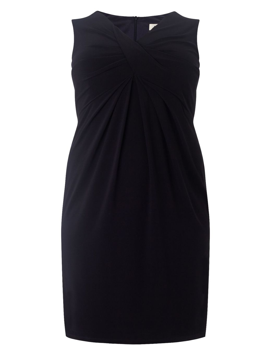 Ivy Dress, Navy - style: faux wrap/wrap; length: mid thigh; neckline: v-neck; fit: empire; pattern: plain; sleeve style: sleeveless; bust detail: ruching/gathering/draping/layers/pintuck pleats at bust; predominant colour: navy; fibres: polyester/polyamide - stretch; occasions: occasion; sleeve length: sleeveless; pattern type: fabric; texture group: jersey - stretchy/drapey; season: s/s 2016; wardrobe: event