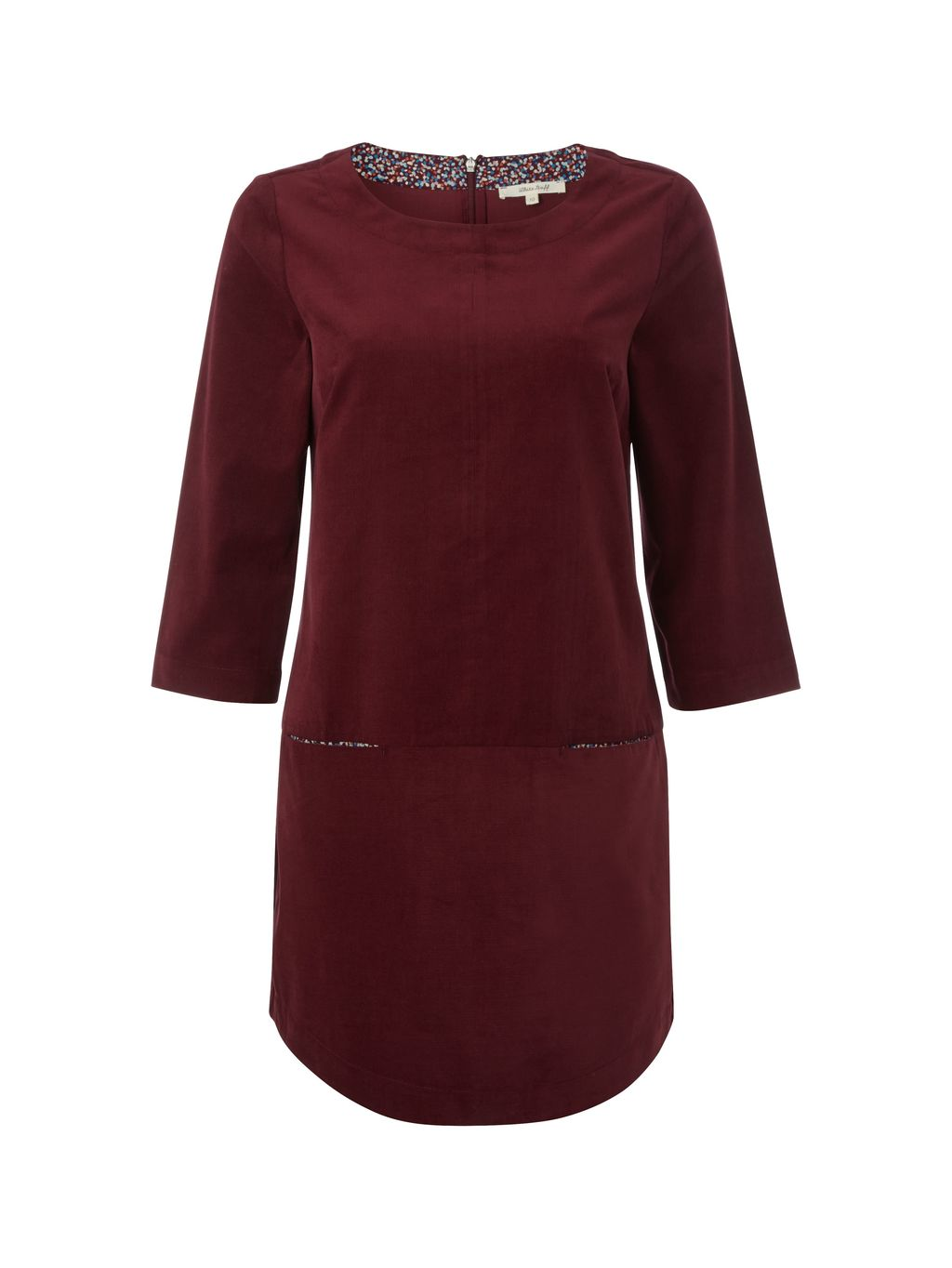 Tap Dance Tunic, Plum - neckline: slash/boat neckline; pattern: plain; length: below the bottom; style: tunic; predominant colour: burgundy; occasions: casual, creative work; fibres: cotton - 100%; fit: body skimming; sleeve length: 3/4 length; sleeve style: standard; pattern type: fabric; texture group: jersey - stretchy/drapey; season: s/s 2016; wardrobe: highlight