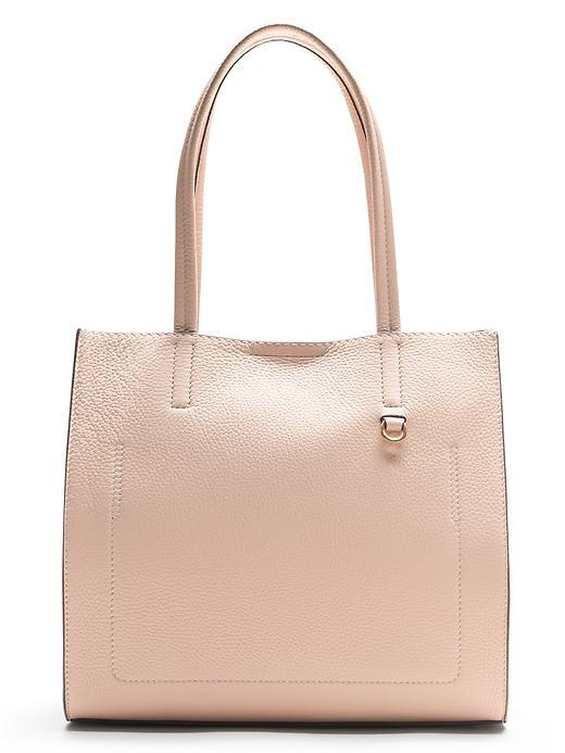 Pebbled Italian Leather Tote Pink Blush - predominant colour: nude; occasions: casual, creative work; type of pattern: standard; style: tote; length: shoulder (tucks under arm); size: standard; material: leather; pattern: plain; finish: plain; season: s/s 2016; wardrobe: investment