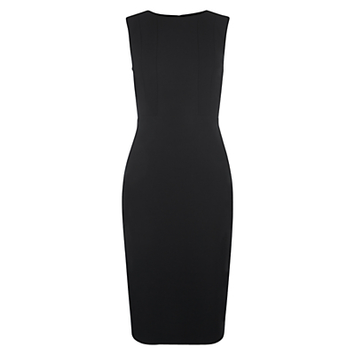 Clemence Dress, Black - style: shift; fit: tailored/fitted; pattern: plain; sleeve style: sleeveless; predominant colour: black; length: just above the knee; fibres: polyester/polyamide - stretch; occasions: occasion, creative work; neckline: crew; sleeve length: sleeveless; texture group: crepes; pattern type: fabric; season: s/s 2016; wardrobe: investment