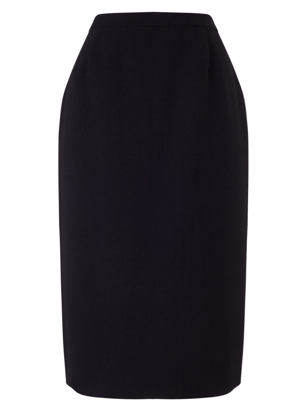 Pencil Skirt - pattern: plain; style: pencil; waist: high rise; predominant colour: black; occasions: work; length: on the knee; fibres: polyester/polyamide - 100%; texture group: crepes; fit: straight cut; pattern type: fabric; season: s/s 2016; wardrobe: basic