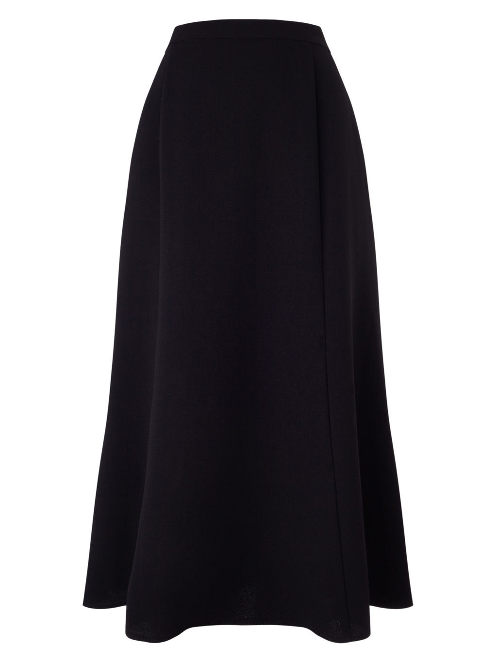 Crepe Fit&Flare Skirt - length: below the knee; pattern: plain; fit: loose/voluminous; waist: high rise; predominant colour: black; style: a-line; fibres: polyester/polyamide - 100%; texture group: crepes; pattern type: fabric; occasions: creative work; season: s/s 2016; wardrobe: basic