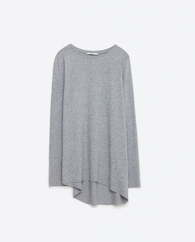 Soft Touch Top - neckline: round neck; pattern: plain; length: below the bottom; predominant colour: mid grey; occasions: casual; style: top; fibres: viscose/rayon - stretch; fit: loose; sleeve length: long sleeve; sleeve style: standard; pattern type: fabric; texture group: jersey - stretchy/drapey; season: s/s 2016; wardrobe: basic