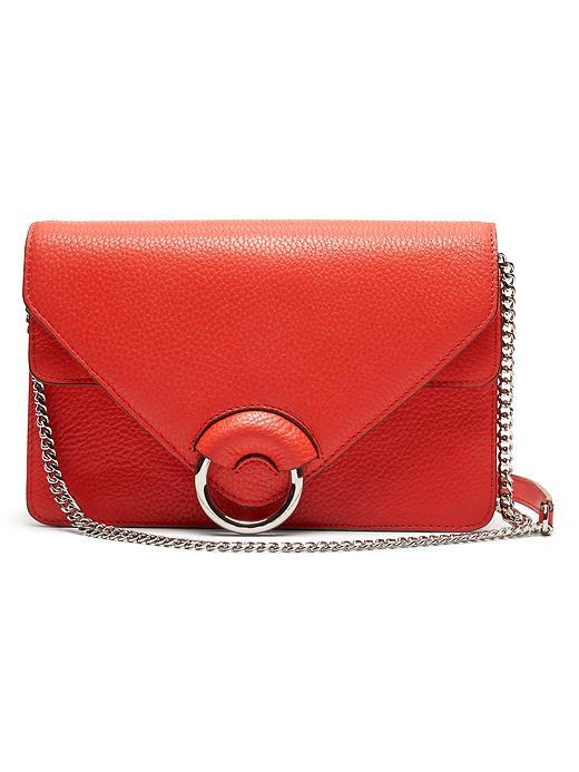 Red Italian Leather Accordion Bag Geo Red - predominant colour: true red; type of pattern: standard; style: shoulder; length: across body/long; size: small; material: leather; pattern: plain; finish: plain; embellishment: chain/metal; occasions: creative work; season: s/s 2016; wardrobe: highlight