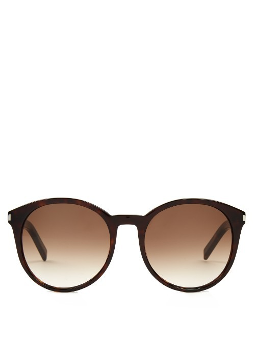 Oversized Round Frame Acetate Sunglasses - predominant colour: black; occasions: casual, holiday; style: round; size: standard; material: plastic/rubber; pattern: plain; finish: plain; season: s/s 2016; wardrobe: basic