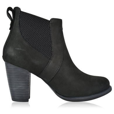 Cobie Boots - predominant colour: black; occasions: casual; material: leather; heel height: high; heel: block; toe: round toe; boot length: ankle boot; style: standard; finish: plain; pattern: plain; season: s/s 2016; wardrobe: highlight