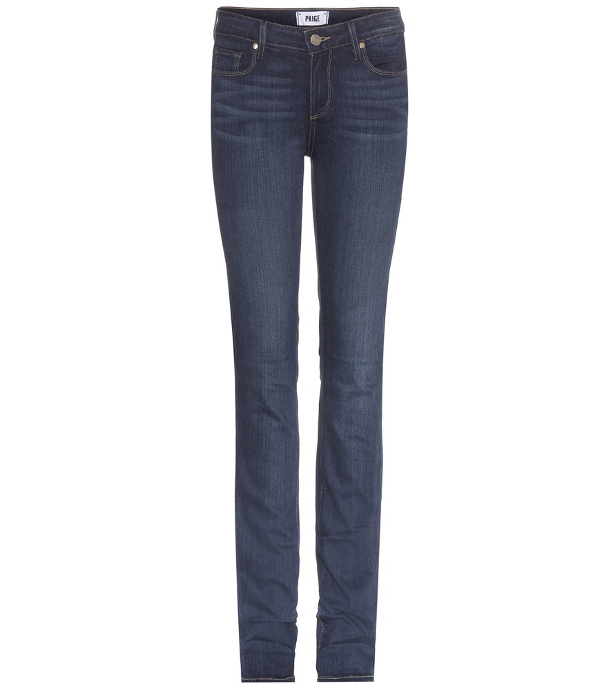 Skyline Straight Jeans - style: straight leg; length: standard; pattern: plain; pocket detail: traditional 5 pocket; waist: mid/regular rise; predominant colour: navy; occasions: casual; fibres: cotton - stretch; jeans detail: dark wash; texture group: denim; pattern type: fabric; season: s/s 2016