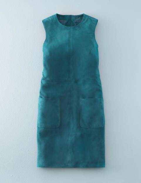 Sienna Suede Tunic Dress Teal Women, Teal - style: shift; pattern: plain; sleeve style: sleeveless; predominant colour: teal; occasions: evening; length: just above the knee; fit: body skimming; fibres: leather - 100%; neckline: crew; sleeve length: sleeveless; pattern type: fabric; texture group: suede; season: s/s 2016; wardrobe: event