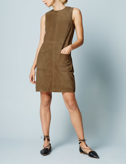 Sienna Suede Tunic Dress Tan Women, Tan - style: shift; pattern: plain; sleeve style: sleeveless; predominant colour: camel; occasions: evening; length: just above the knee; fit: body skimming; fibres: leather - 100%; neckline: crew; sleeve length: sleeveless; pattern type: fabric; pattern size: light/subtle; texture group: suede; season: s/s 2016; wardrobe: event