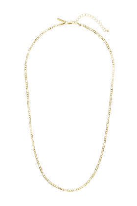 Gold Linked Chain - predominant colour: gold; occasions: casual, creative work; length: mid; size: small/fine; material: chain/metal; finish: metallic; season: s/s 2016; style: chain (no pendant)