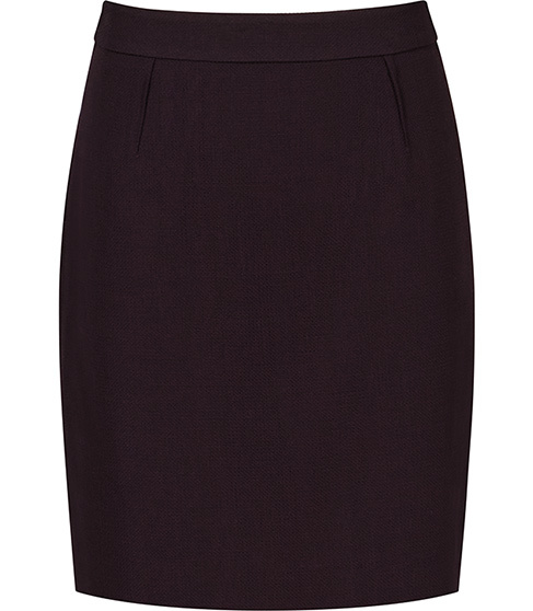Camila Skirt Textured Pencil Skirt - pattern: plain; style: pencil; fit: tailored/fitted; waist: mid/regular rise; predominant colour: black; occasions: work; length: just above the knee; fibres: wool - 100%; texture group: jersey - clingy; pattern type: fabric; season: s/s 2016; wardrobe: basic