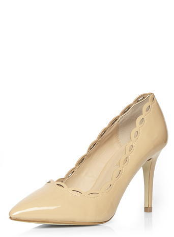 Womens Blush 'eve' Court Shoes Pink - predominant colour: nude; occasions: evening, occasion; material: leather; heel height: high; heel: stiletto; toe: pointed toe; style: courts; finish: patent; pattern: plain; season: s/s 2016; wardrobe: event