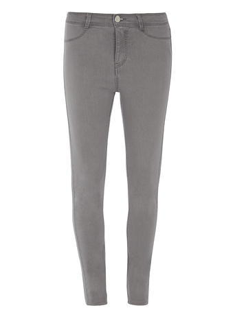 Womens Pale Grey 'frankie' Ultra Soft Jeggings Grey - style: skinny leg; length: standard; pattern: plain; waist: mid/regular rise; predominant colour: mid grey; occasions: casual; fibres: cotton - stretch; texture group: denim; pattern type: fabric; season: s/s 2016; wardrobe: highlight