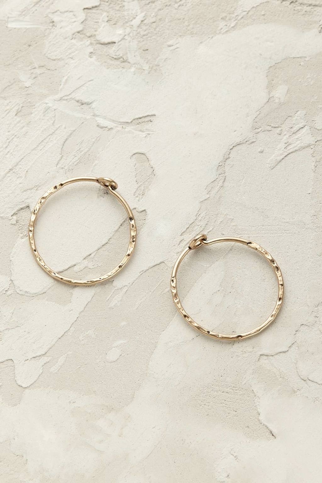 Gia Hoop Earrings - predominant colour: gold; occasions: casual, work, creative work; style: hoop; length: mid; size: standard; material: chain/metal; fastening: pierced; finish: plain; season: s/s 2016; wardrobe: basic