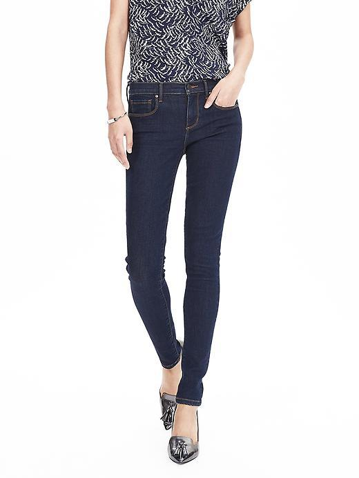 Indigo Skinny Ankle Jean Indigo - style: skinny leg; length: standard; pattern: plain; pocket detail: traditional 5 pocket; waist: mid/regular rise; predominant colour: navy; occasions: casual; fibres: cotton - stretch; jeans detail: dark wash; texture group: denim; pattern type: fabric; season: s/s 2016