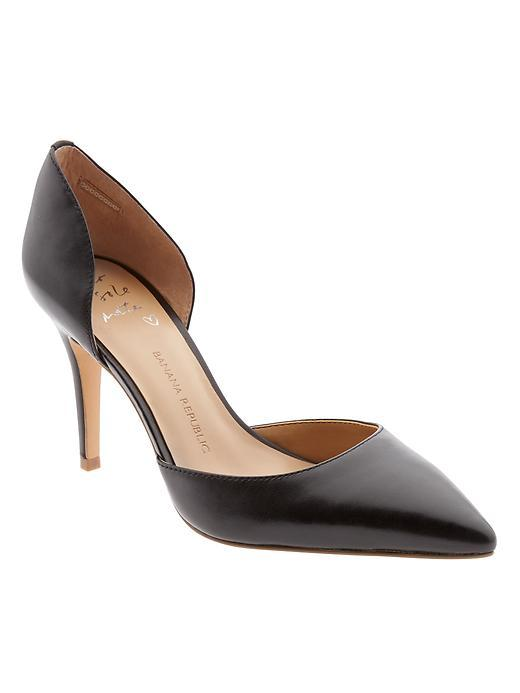 Alicia D'orsay Pump Black - predominant colour: black; occasions: evening; material: leather; heel height: high; heel: stiletto; toe: pointed toe; style: courts; finish: patent; pattern: plain; season: s/s 2016; wardrobe: event