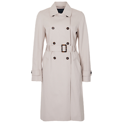 Canyon Twill Trench Coat, African Stone - pattern: plain; style: trench coat; hip detail: draws attention to hips; predominant colour: stone; occasions: work; fit: tailored/fitted; fibres: cotton - 100%; length: below the knee; collar: shirt collar/peter pan/zip with opening; waist detail: belted waist/tie at waist/drawstring; sleeve length: long sleeve; sleeve style: standard; texture group: technical outdoor fabrics; collar break: high; pattern type: fabric; season: s/s 2016; wardrobe: highlight