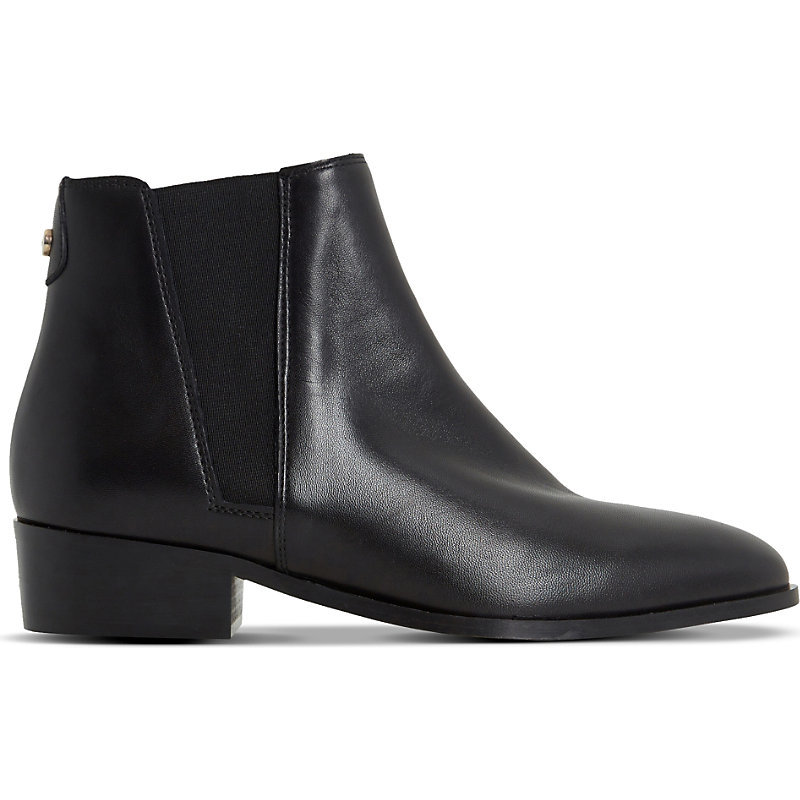 Pearce Leather Chelsea Boots, Women's, Eur 40 / 7 Uk Women, Black Leather - predominant colour: black; occasions: casual; material: leather; heel height: flat; embellishment: elasticated; heel: block; toe: pointed toe; boot length: ankle boot; style: standard; finish: plain; pattern: plain; season: s/s 2016; wardrobe: basic