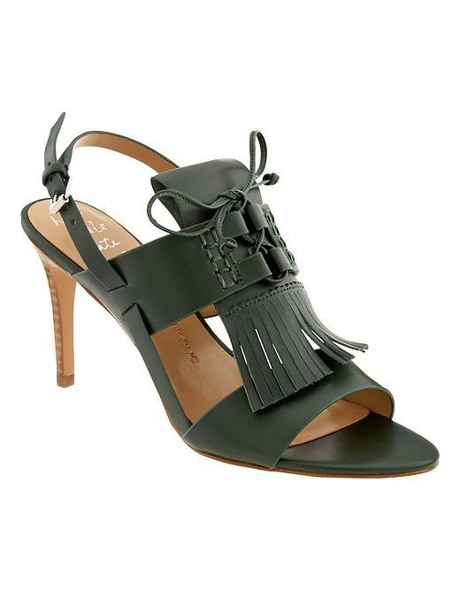 Michaela Heeled Sandal Deep Hunter - predominant colour: dark green; occasions: casual; material: leather; heel height: high; heel: stiletto; toe: open toe/peeptoe; style: standard; finish: plain; pattern: plain; season: s/s 2016; wardrobe: highlight