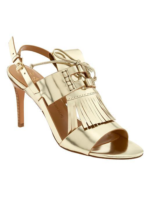 Michaela Heeled Sandal Pale Gold - predominant colour: gold; occasions: evening, occasion; material: leather; heel height: high; heel: stiletto; toe: open toe/peeptoe; style: standard; finish: metallic; pattern: plain; season: s/s 2016; wardrobe: event