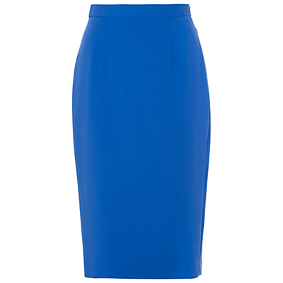 Whisper Light Pencil Skirt - length: below the knee; pattern: plain; style: pencil; fit: tailored/fitted; waist: high rise; predominant colour: diva blue; occasions: work, creative work; fibres: polyester/polyamide - stretch; waist detail: feature waist detail; pattern type: fabric; texture group: other - light to midweight; season: s/s 2016; wardrobe: highlight